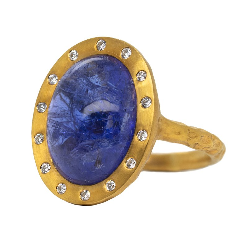 Extended Collection Tanzanite and Diamond Ring