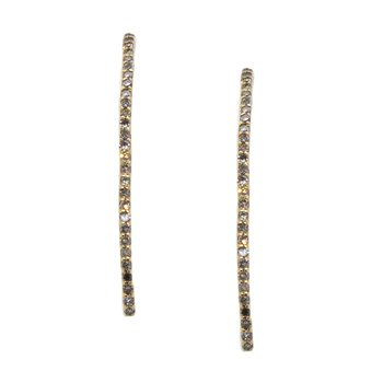 Diamond Line Drop Earrings