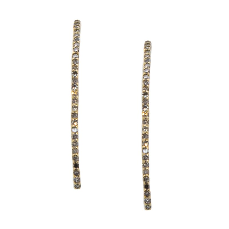 Extended Collection Diamond Line Drop Earrings