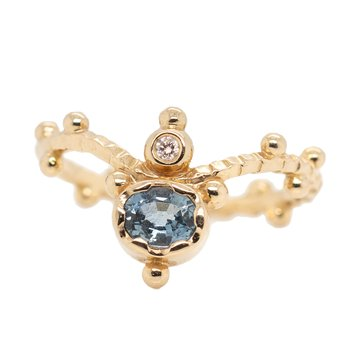 """""""Tiara"""" Sapphire Ring in Rose Gold"""