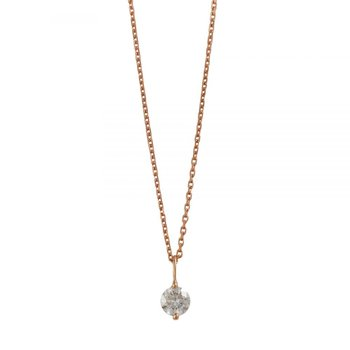 Rose Gold and Round Brilliant Diamond Necklace