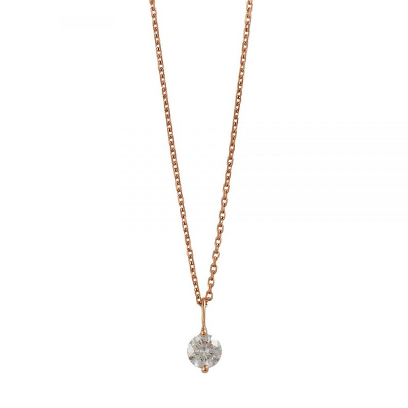 Extended Collection Rose Gold and Round Brilliant Diamond Necklace