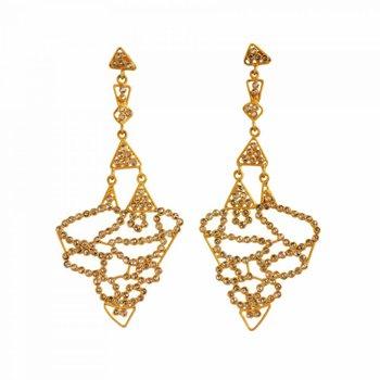 Chandelier Earrings with Gray Diamonds (4.45ctw) in 18K Gold