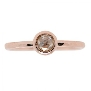 Rose Gold and Yellow Diamond Solitaire Ring