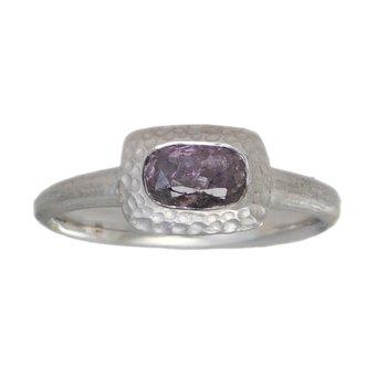 Purple-Pink Diamond (0.76ct) Ring in Platinum