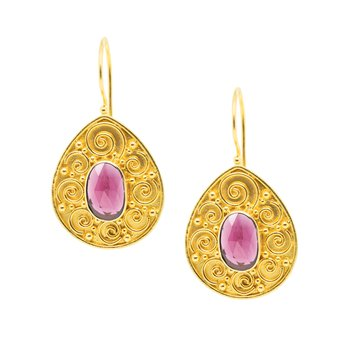 Tourmaline Drop Earrings in 18K Gold