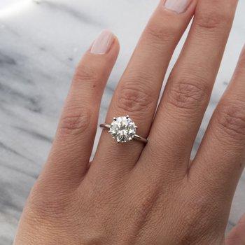 Round Diamond (3.37ct) Solitaire Ring in Platinum
