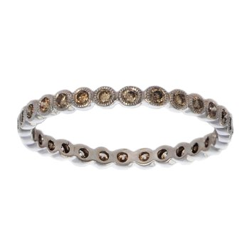 Eternity Band with Cognac Diamonds in 18K White Gold