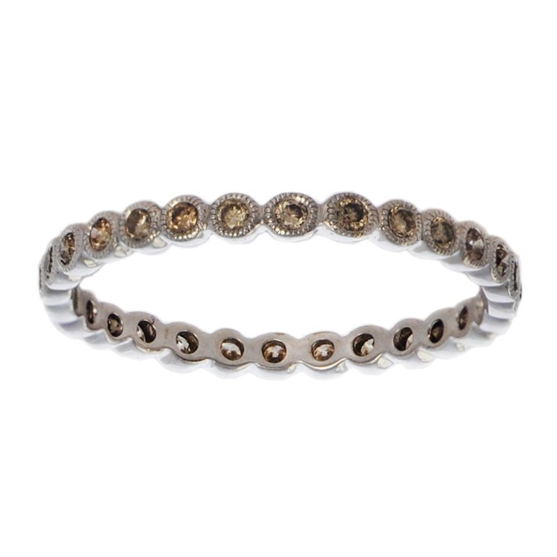 Extended Collection Eternity Band with Cognac Diamonds in 18K White Gold