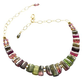 Tourmaline (313ctw) Collar Necklace