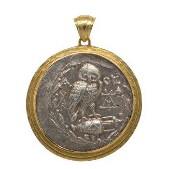 Ancient Greek Coin (138-167 BCE) Pendant