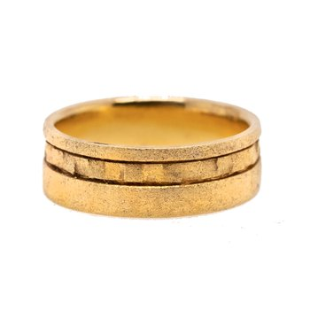 Contemporary Gold Plated Band