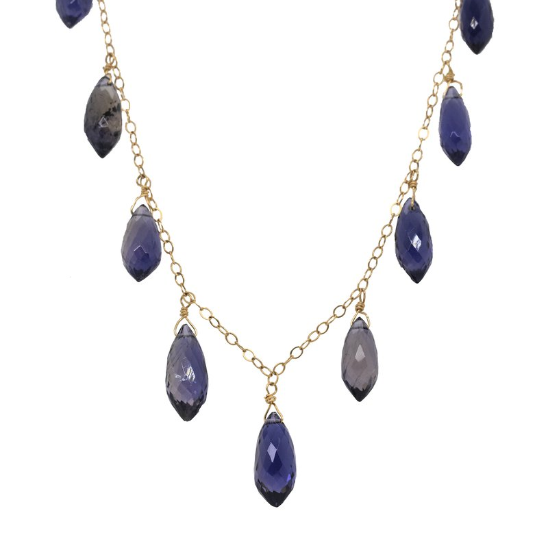 Extended Collection Iolite Necklace