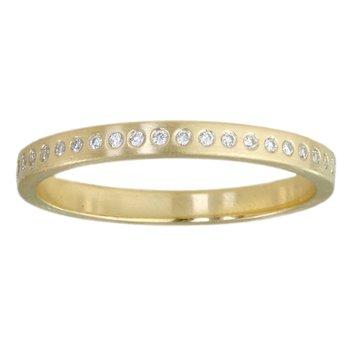 18K Gold Band with 44 Flush-Set Diamonds (0.22ctw)