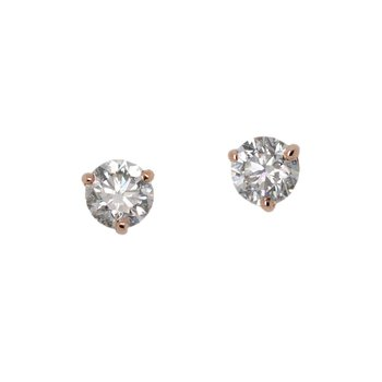 Diamond (0.75ctw) Studs in Rose Gold