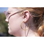 Extended Collection Textured Hoops in 22K Gold