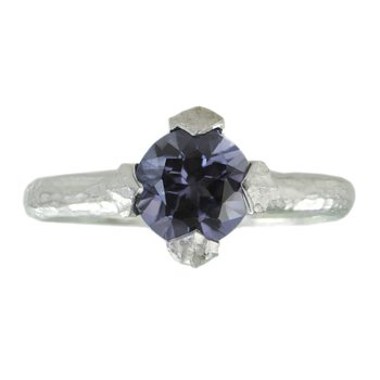 Four Prong Set Spinel (1.56ct) Ring in Platinum