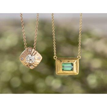 Diamond (0.94ct) Pendant in Rose Gold