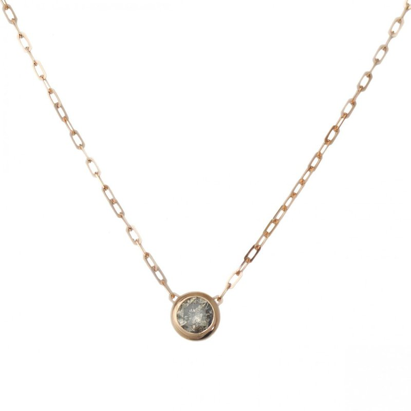 Pavé Fine Jewelry Rose Gold and Champagne Diamond Link Chain Necklace