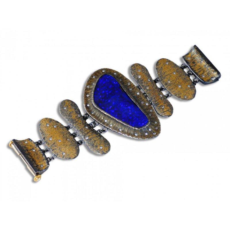 "Michael Endlich Designs Purple Boulder Opal (115ct) ""Wonder Woman"" Bracelet"