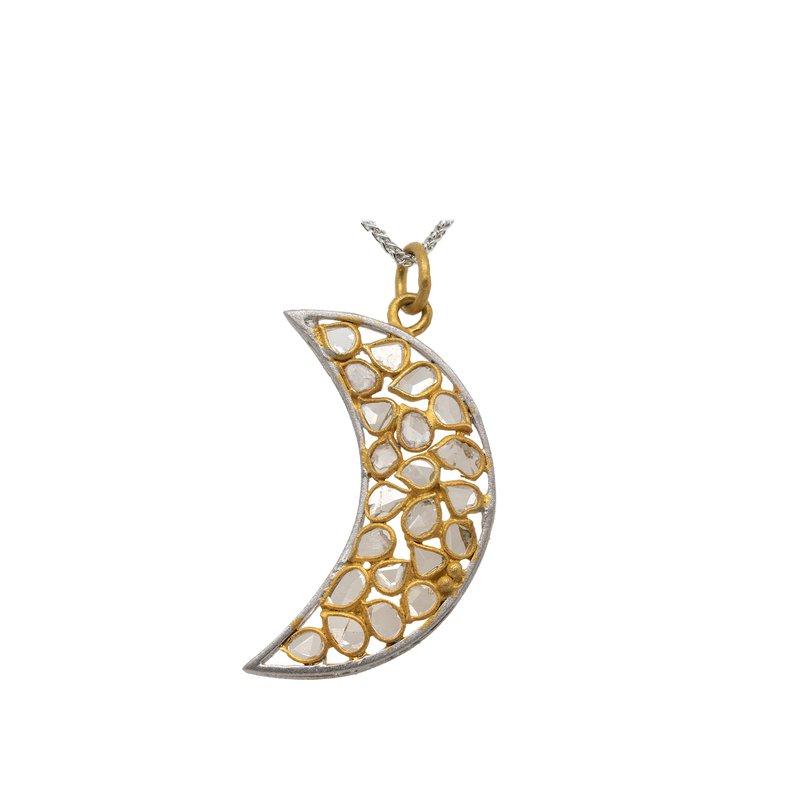 Deeta Thakural Diamond Slice Crescent Moon Pendant