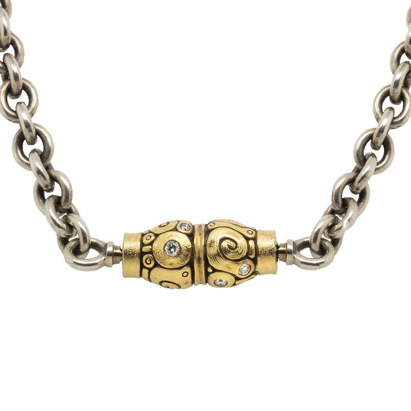 "Alex Šepkus Chain Necklace with ""Seashell"" Clasp"