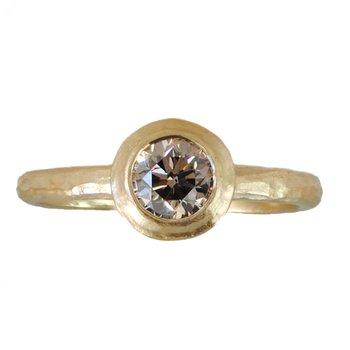 Dusty Rose Diamond Ring in 18K Gold