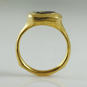 Ancient Coin Ring in 22K Yellow Gold