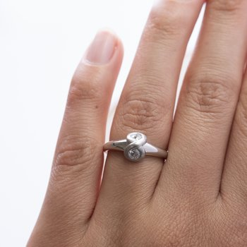 Infinity Diamond Ring in Platinum