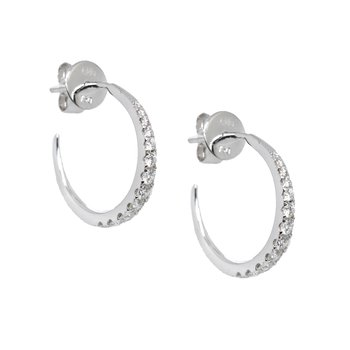 Diamond Pointue Hoops