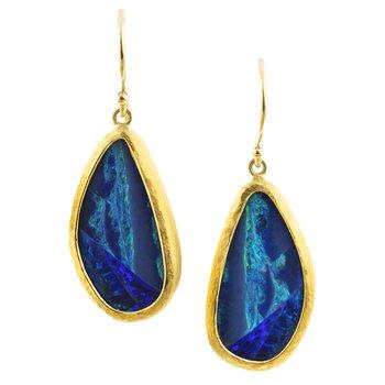 Opal Earrings in 22K and 18K Gold