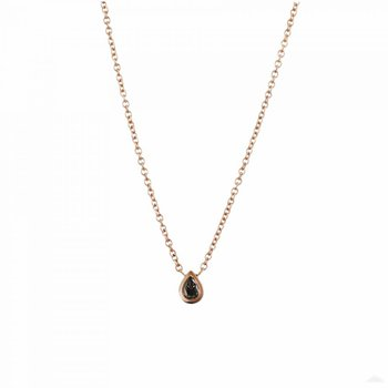 18K Rose Gold Pear Shaped Brown Diamond (0.29ct) Necklace