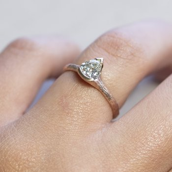 Pear Shaped Diamond (0.82ct) Ring in 18K Rose Gold