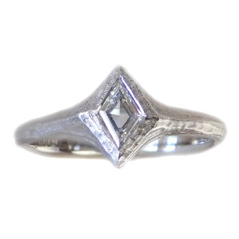 Kite Shaped Diamond (0.26ct) Ring in Platinum