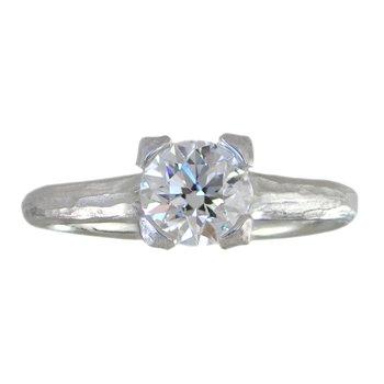 Round Brilliant Diamond (1.02ct) Ring in Platinum