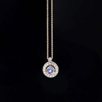 Tanzanite and Diamond Necklace in Gold