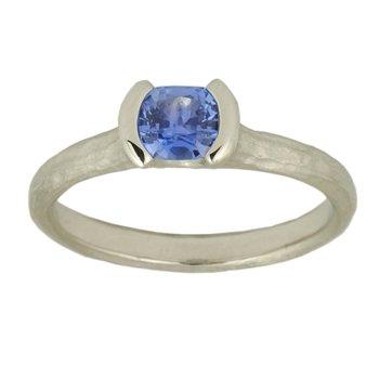 Pale Purple Sapphire (0.57ct) Platinum Ring