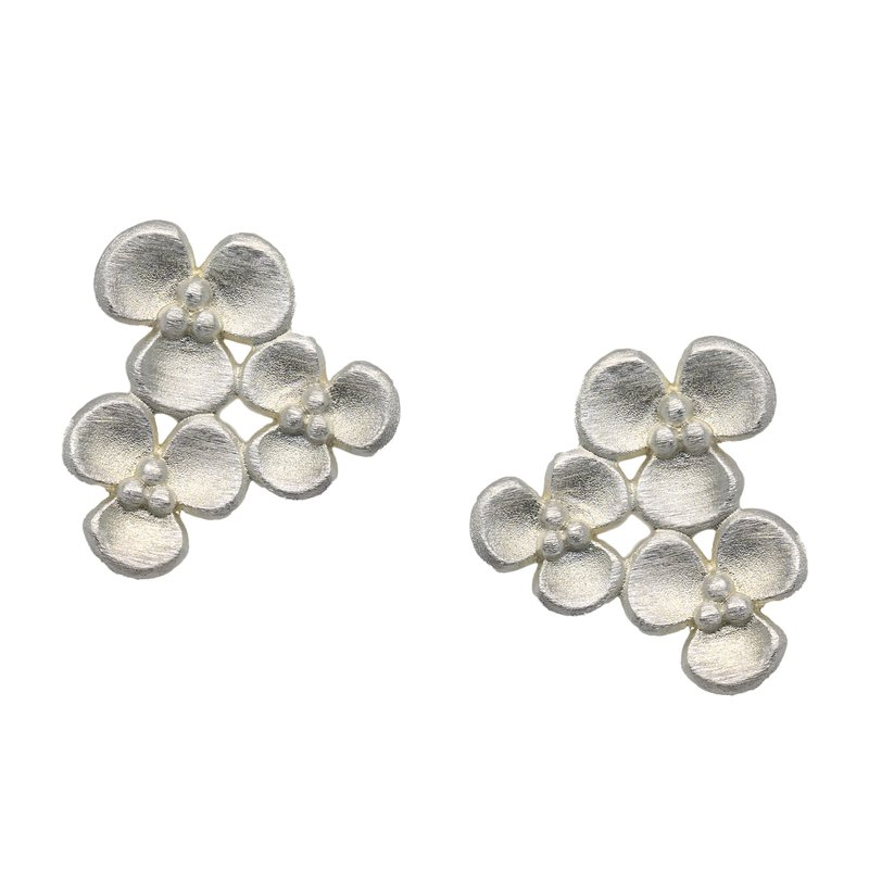 "Bernd Wolf ""Triflora"" Sterling Silver Earrings"