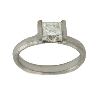 Diamond (1.20ct) Ring in Platinum