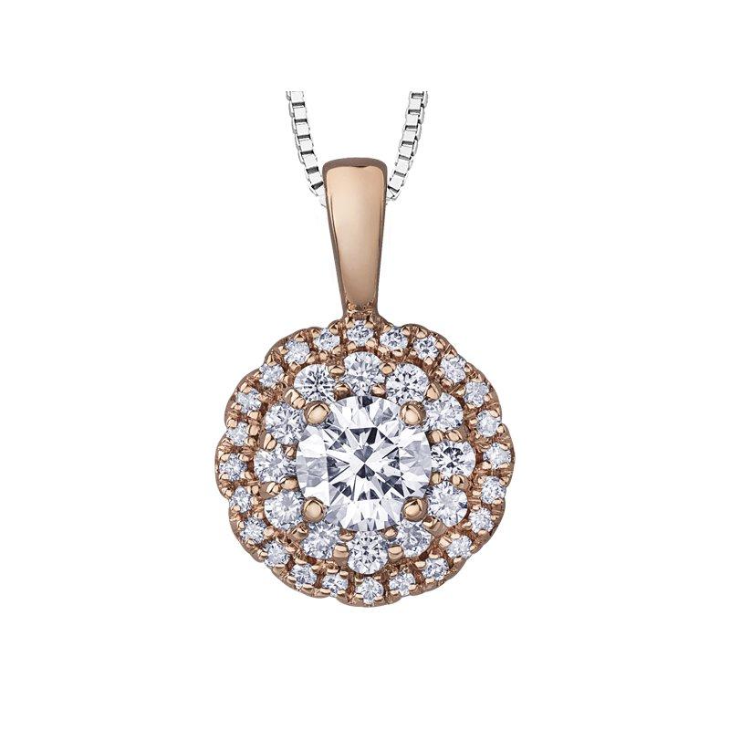 Corona Diamond Pendant Necklace