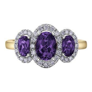 Amethyst Ladies Ring