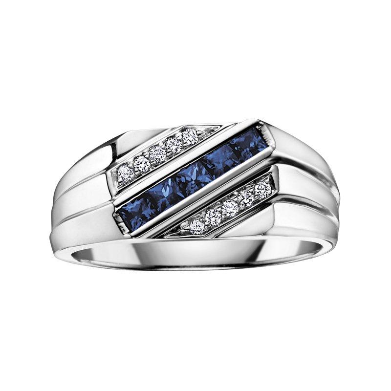 Corona Sapphire Gents Ring