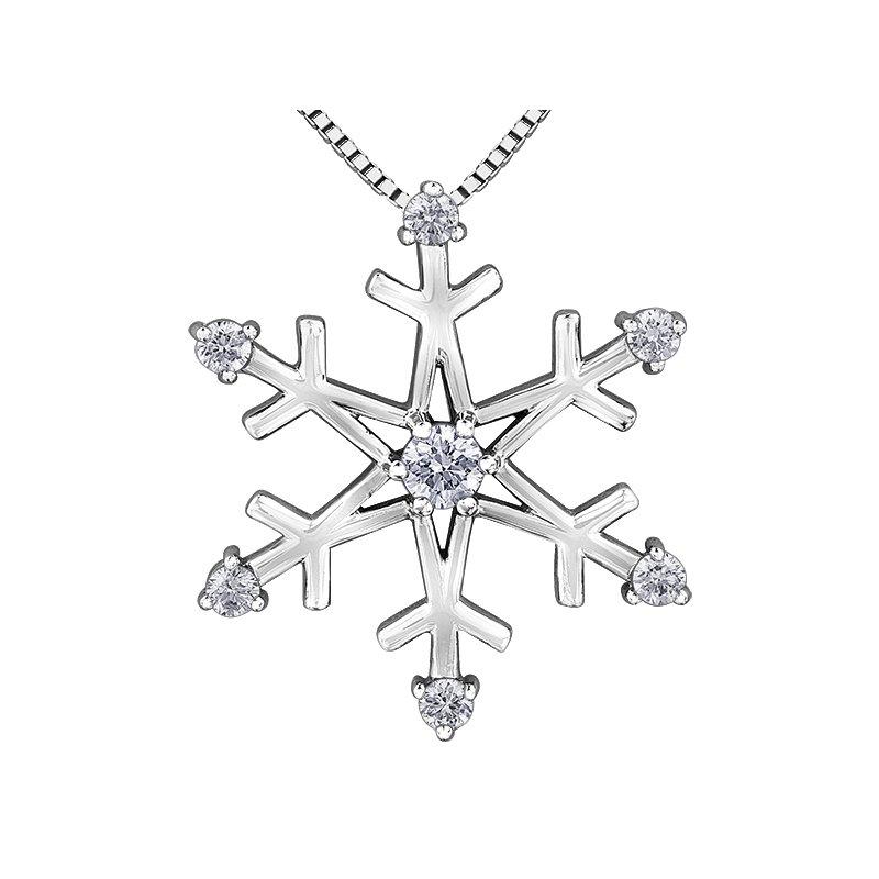 Corona Maple Leaf Diamonds™ Winter Medium Snowflake Pendant
