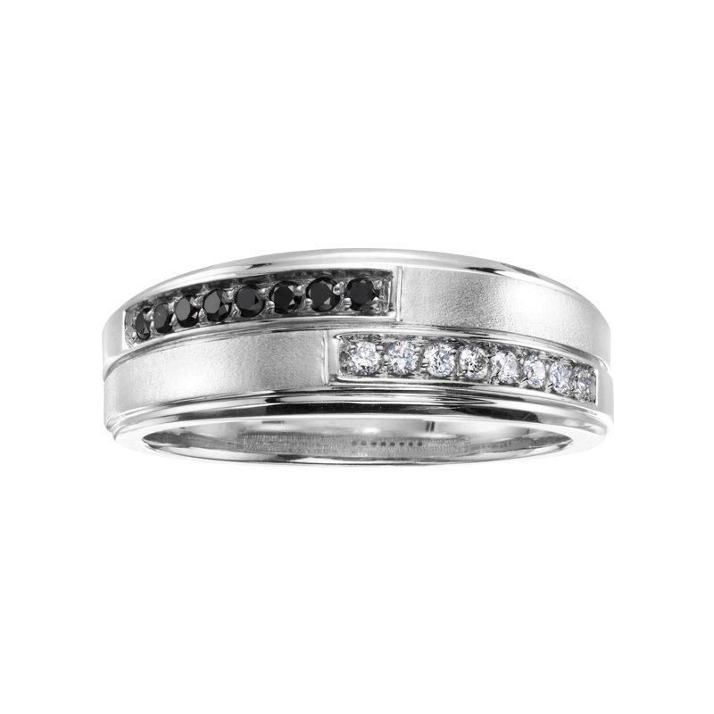 Corona Enhanced Black Diamond Gents Ring