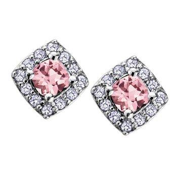 Birthstone & Diamond Earrings