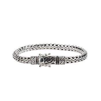 S/sil Dragon Weave Eternity clasp Bracelet