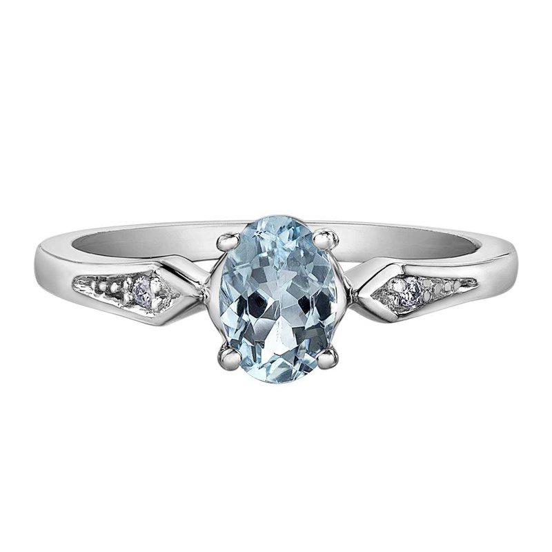 Corona Aquamarine Ladies Ring