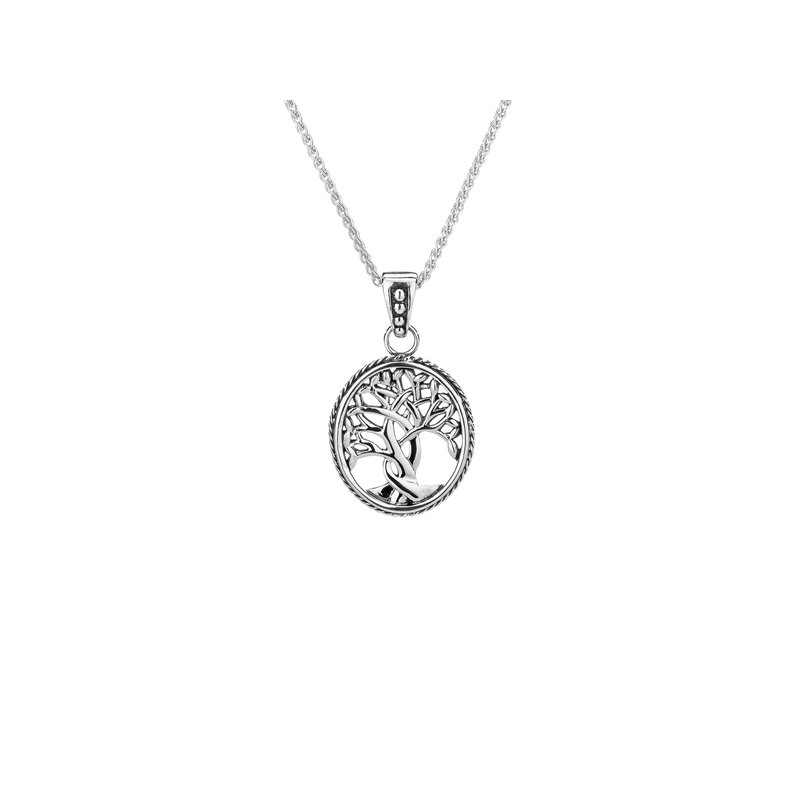 Keith Jack S/sil Tree of Life Small Pendant Necklace