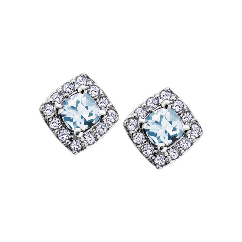Corona Birthstone & Diamond Earrings