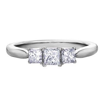 Diamond Ladies Three Stone Ring